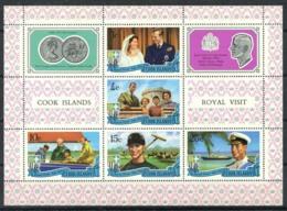 Isole Cook 1971 Mi. Bl. 9 Foglietto 100% Nuovo ** Principe Filippo - Cook