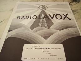 ANCIENNE PUBLICITE ENFIN LE HAUT PARLEUR RADIOLAVOX DE  RADIOLA  1925 - Plakate & Poster
