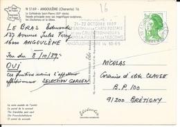 CHARENTE 16  -  ANGOULEME GARE    -  FLAMME  : SALON DES COLLECTIONNEURS  - 1989 - Mechanical Postmarks (Advertisement)