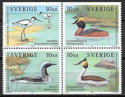 Suède 2003 N°2349/2352 Neufs En Bloc De 4, Oiseaux Aquatiques - Sweden