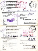 2 Cartes Kriegsgefangenenpost Prisonnier Guerre 1939/45 Stalag XVII B GNEIXENDORF (Wien) + Censuredép Perwez Eghezée - Documents