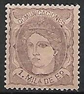 ESPAGNE    -    1870.    Y&T N° 102 * - 1870-72 Reggenza