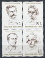 Albania 1989 Mi. 2398-2401 Nuovo ** 100% Personalità, Celebrità - Albania