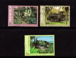 CHRISTMAS  ISLAND   1994    Steam  Locomotives    Set  Of  3       USED - Christmas Island
