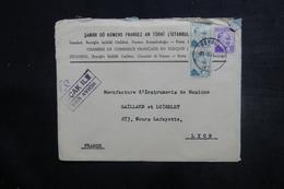 TURQUIE - Enveloppe De La Chambre De Commerce Française En Turquie Pour Lyon - L 38104 - Lettres & Documents