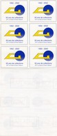 ERRINOPHILIE 1952-2002 . ADHESIF. BLOC DE 6.  50 ANS DE COLLECTIONS - Commemorative Labels