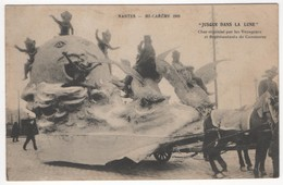 """Nantes - Mi-carême 1909 """"Jusque Dans La Lune"""" Char Organisé Par Les Voyageurs Et Représentants De Commerce - Nantes"""