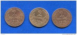 2  Cents  1916+1919+1920 - Francia
