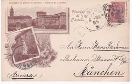 Italie - Lombardia -  Ricordo Di MONTOVA -  Dos Simple 1898 - Mantova