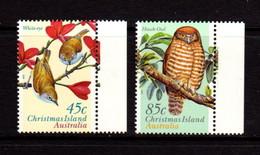 CHRISTMAS  ISLAND   1996   Land  Birds   Set  Of  2       MNH - Christmas Island