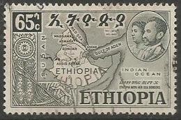 Ethiopia - 1952 Federation With Eritrea 65c Used  .    Sc 331 - Ethiopia