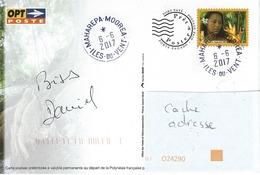 13068 PAP - MAHAREPA - MOOREA - îles Du VENT - POLYNÉSIE  2017 - Lettres & Documents