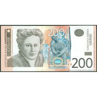 TWN - SERBIA 42a - 200 Dinara 2005 Prefix AE UNC - Serbia