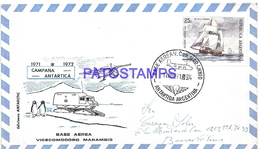 117489 ARGENTINA ANTARCTICA BASE AEREA V. COMODORO MARAMBIO COVER 1971 CIRCULATED TO  BUENOS AIRES NO POSTCARD - Argentinien