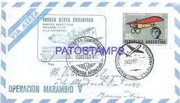 117492 ARGENTINA ANTARCTICA BASE AEREA V. COMODORO MARAMBIO COVER 1972 CIRCULATED TO  BUENOS AIRES NO POSTCARD - Argentinien