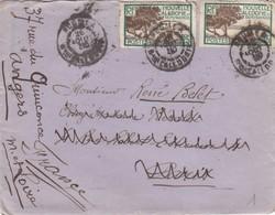LETTRE. NOUVELLE CALEDONIE. 1930. NOUMEA POUR PARIS. REDIRIGEE ANGERS - Neukaledonien