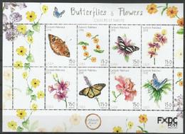 Papillons/Vlinders** - Saba - Timbres
