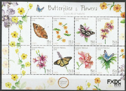 Papillons/Vlinders** - Saba - Postzegels