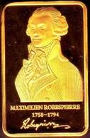 Lingot Doré Maximilien Robespierre 14 Juillet 1789 Révolution Française Prise La Bastille Histoire Commémoration PARIS - Autres