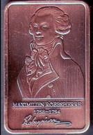 Lingot Cuivré Maximilien Robespierre 14 Juillet 1789 Révolution Française Prise De Bastille Histoire Commémoration PARIS - Autres
