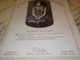 ANCIENNE PUBLICITE PAS BESSOIN DE TRICHER TECLA 1925 - Jewels & Clocks