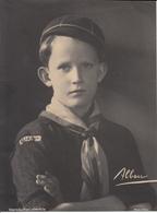 Royauté, Prince Baudouin, Duc De Brabant, Habillé En Scout (peu Vue, Photo Albon) - Photographs