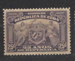 Cuba - 1927 - Nuovo/new No Gum - 25° Repubblica - Mi N. 55 - Cuba