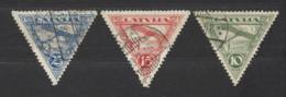 Lettonia - 1928 - Usato/used - Posta Aerea - Mi N. 129/31 - Lettonia