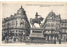 ORLEANS . LA PLACE MARTROI + HIST SUR RECTO . CARTE NON ECRITE - Orleans
