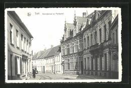 AK Tielt, Kortrijkstraat En Postbureel - Tielt