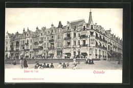 AK Ostende, Digue De L`est, Gebäude Am Strand - Belgique