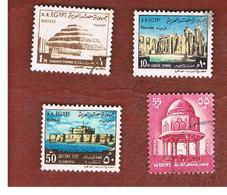 EGITTO (EGYPT) - SG 1131a.1137    - 1972  HISTORIC BUILDINGS   - USED ° - Usati