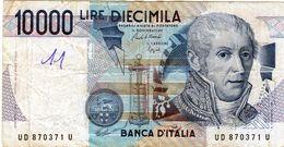 Billet De L'Italie De 10.000 Lire Le 3 Septembre 1984 En T T B + - Signature Cam - [ 2] 1946-… : République