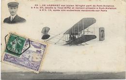 DE LAMBERT Sur Biplan Wright Part De Port-Aviation à 4 H 37, Double La Tour Eiffel Et Revient Atterrir à Port-Aviation. - Aviateurs