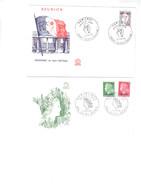 La Réunion  Enveloppe 1er Jour MARIANNES - Gebraucht