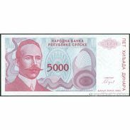 TWN - BOSNIA-HERZEGOVINA 152a - 5000 5.000 Dinara 1993 Prefix A UNC - Bosnia Erzegovina