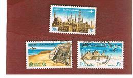 EGITTO (EGYPT) - SG 1170.1172  - 1972  WORLD HERITAGE (COMPLET SET OF 3)   - USED ° - Usati