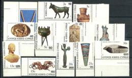 Cipro 1983 Mi. 587-598 Nuovo ** 100% Soprastampato Reperti Archeologici - Nuovi