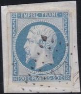 France  .    Yvert  .   14f     .    O     .     Oblitéré - 1853-1860 Napoleon III