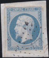 France  .    Yvert  .   14f     .    O     .     Oblitéré - 1853-1860 Napoléon III