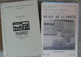 BULLETIN DES AMIS DU MUSÉE POSTAL : ENSEMBLE COMPLET Du N°1 AU 70bis SOIT 65 NUMEROS DE 1963 À 1984 - Philatélie Et Histoire Postale