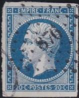 France    .    Yvert  .   14a       .    O     .     Oblitéré - 1853-1860 Napoléon III