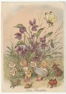 AK Postkarte Das Ständchen, 2 Scans, 14,6 X 10,5 Cm - Fairy Tales, Popular Stories & Legends