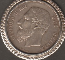 Belgique, België, Belgium, Perfect Coin Silver Decoration 1873 - 09. 5 Francs