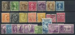 Stati Uniti 1932-1933 Mi. 334-345-353 Usato 100% George Washington, Sport - Stati Uniti