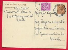 ITALIA REPUBBLICA USATO - 1965 - CARTOLINA POSTALE SEGNATASSE - Siracusana - £ 30 - Unificato CP167 - 1961-70: Storia Postale