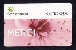 Carte Cadeau  YVES ROCHER.    MERCI - Cartes Cadeaux