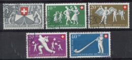 Svizzera 1951 Mi. 555-559 Usato 100% Pro Patria, Giochi Popolari - Pro Patria