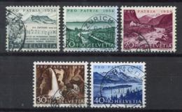 Svizzera 1954 Mi. 597-601 Usato 100% Pro Patria, Paesaggi - Pro Patria