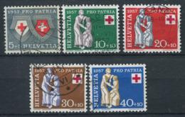 Svizzera 1957 Mi. 641-645 Usato 100% Pro Patria, Croce Rossa - Pro Patria